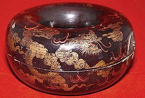 Chinese Ming Lacquered Necklace Holder - 17th Century