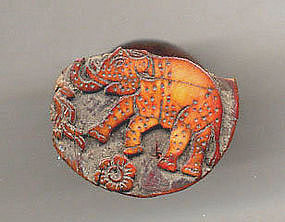 Ancient Pyu Ivory Seal of a Elephant - 100AD