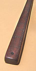 Chinese Blackwood (Hongmu) Ruler w/Silver Inlay