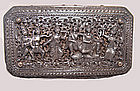 Large Burmese Repousse Silver Box