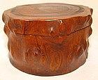 Chinese Ming Huanghuali Round Box w/Lid - 17th C.