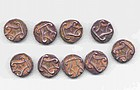 9 Rare Burmese Ancient Silver Coins - 5th Century
