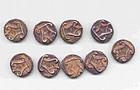 9 Rare Burmese Ancient Silver Coins - 5th Century