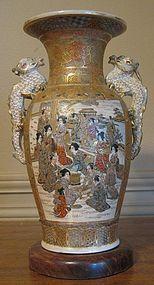 Beautifully Decorated Vase By Hododa Meizan or Ryokushu