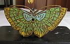 19th-20th Cent Cloisonne Enamel- On- Bronze Suiteki Water Dropper