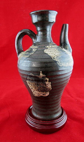Song Dynasty  Phosphoratic Splash Glaze On Black Base  Stoneware Ewer