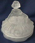 Tiffin Dancing Girl Crystal Frosted Powder Dish