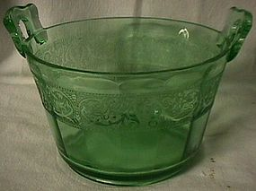 Green Etched Ice Bucket