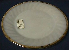 Fire King Golden Swirl Dinner Plate