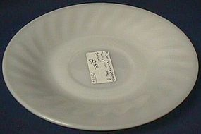 Fire King Swirl White Saucer