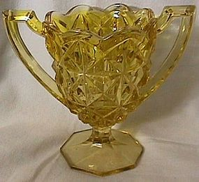 Monticello Yellow Trophy Vase