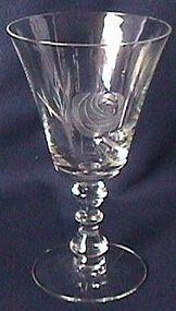 Fostoria Rose Crystal Goblet