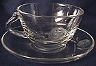 Fostoria Rose Crystal Cup and Saucer