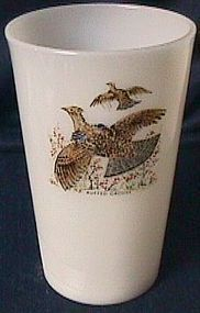 Fire King Game Birds Tea Tumbler Ruffed Grouse