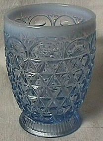 Laced Edge Katy Blue Tumbler Imperial Glass Company