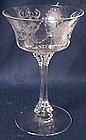 Heisey Minuet Crystal Saucer Champagne or Tall Sherbet