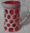 Fenton Glass Company Coin Dot Cranberry Creamer