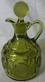 Fostoria Coin Olive Green Cruet and Stopper