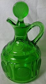 Fostoria Coin Green Cruet and Stopper