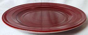 Moderntone Rust Sherbet Plate Hazel Atlas Glass