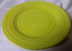 Moderntone Chartreuse Dinner Plate Hazel Atlas Glass