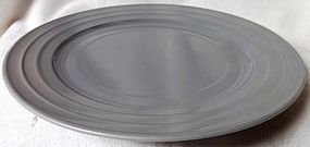 Moderntone Gray Sherbet Plate Hazel Atlas Glass Company