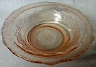 Normandie Pink Small Berry Bowl Federal Glass Company