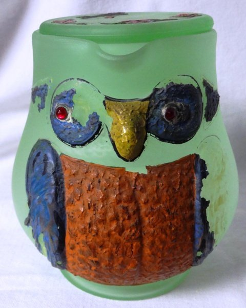Owl Green Guest Set New Martinsville Glass Company