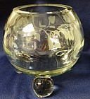 "Swedish Optic Crystal 6"" Rose Bowl Tiffin Glass Company"