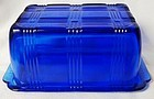 Criss Cross Cobalt 1 Pound Butter Dish and Lid