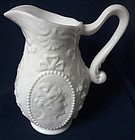 Jenny Lind Milkglass Blown Pitcher Fostoria Glass Company