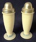 American Sweetheart Monax Pair Shakers MacBeth Evans Glass Company