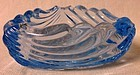 "Caprice Moonlight Blue Triangle Ashtray 3"" Cambridge Glass Company"