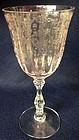 "Navarre Pink Goblet 7 5/8"" 10 oz Fostoria Glass Company"