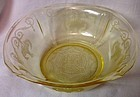 "Lorain Yellow Salad Bowl 7.25"" Indiana Glass Company"