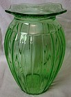 "Adam Green Vase 7.5"" Jeannette Glass Company"
