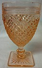 "Miss America Pink Juice Goblet 4.75"" Hocking Glass Company"