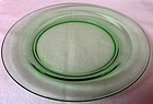 "Pioneer Green Lunch Plate 7.5"" Fostoria Glass Company"