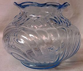 "Caprice Moonlight Blue Vase 4.5"" Cambridge Glass Company"