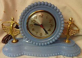 Twin Ballerina Blue Clock