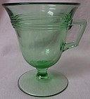 Priscilla Green Custard Footed Fostoria Glass Company