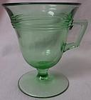 Priscilla Green Custard Footed Fostoria Glass Company