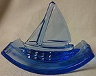 "Sailboat Cobalt Ink Blotter 3.5"" Across 2.5"" Tall"