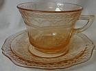 Patrician Pink Cup & Saucer Federal Glass Company