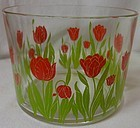 "Tulip Red Ice Bucket 5 5/8"" 4.25"" Tall"