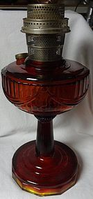 Tall Lincoln Drape Ruby Red Oil Lamp Aladdin Mantle Lamp Company