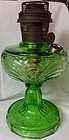 Washington Drape Bell Stem Green Oil Lamp Aladdin Mantle Lamp Company