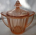 Adam Pink Sugar and Lid Jeannette Glass Company