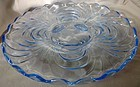 """Caprice Moonlight Blue Cabaret 4 Footed Plate #32 11.25"""" Cambridge"""