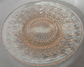 Holiday Pink Saucer Jeannette Glass Company